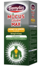 BENYLIN® Mucus Cough Max Honey & Lemon Flavour Syrup