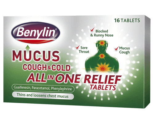 BENYLIN® Mucus Cough & Cold All in One Relief Tablets