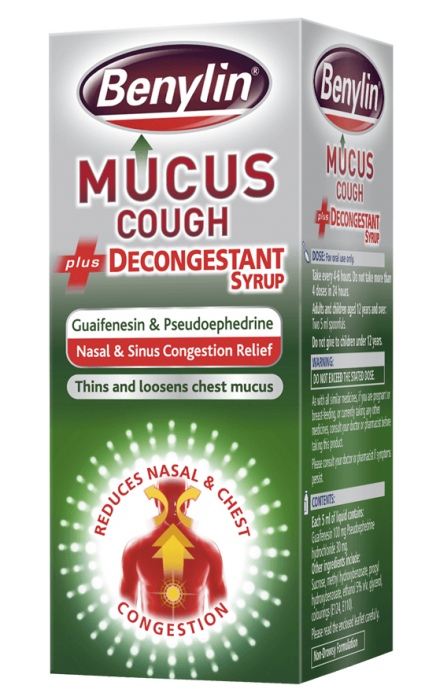 BENYLIN® Mucus Cough plus Decongestant Syrup