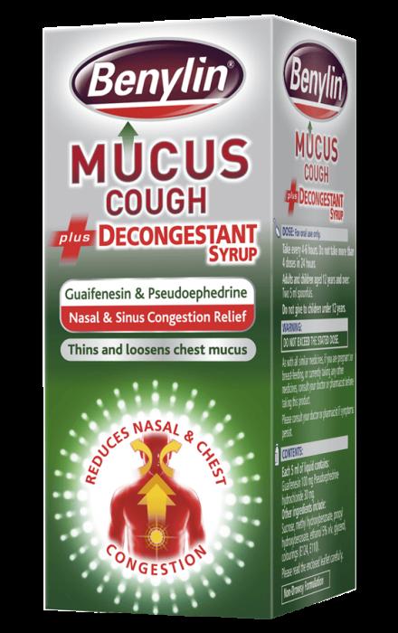 BENYLIN® Mucus Cough plus Decongestant Syrup