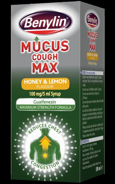 BENYLIN® Mucus Cough Max Honey & Lemon Flavour Syrup